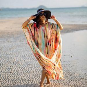 New Gorgeous Rainbow Kaftan Swim Cover …